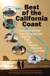 Cover photo of national awar-winnning travel book, Best of the California Coast.
